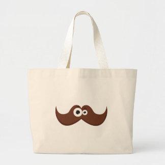 Facetache - The moustache with a face Canvas Bags