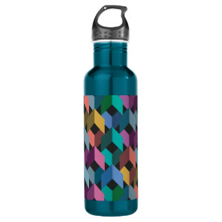 Facets 24 oz. Electric Blue 710 Ml Water Bottle