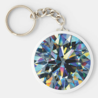 Facets basic button key chain