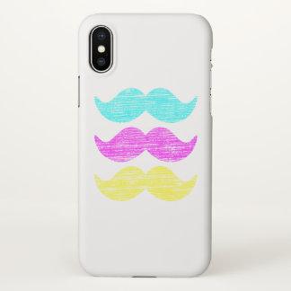 Facial Hair Mustache Colors iPhone X Case