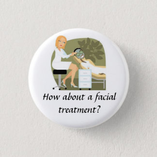 Facial Treatment 3 Cm Round Badge