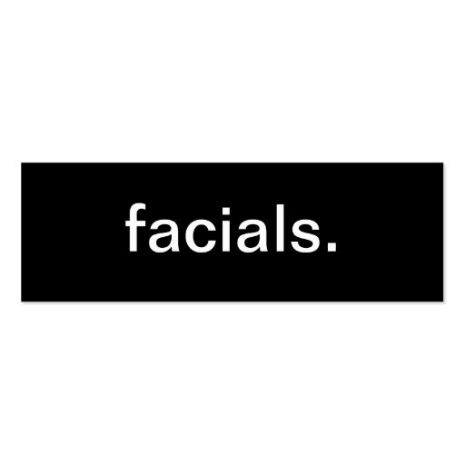 Facials Business Card