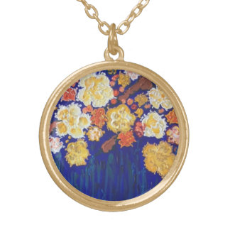 """""""facil de amar"""" art by Beth Wellesley Gold Plated Necklace"""