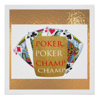 Facilitate the Winner - POKER CHAMPION ART Posters