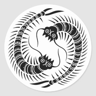 Facing Centipedes circle Classic Round Sticker