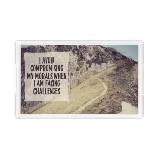 Facing Challenges by Inspirational Downloads Acrylic Tray