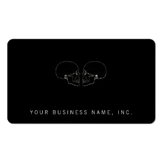 Facing Skulls Pack Of Standard Business Cards