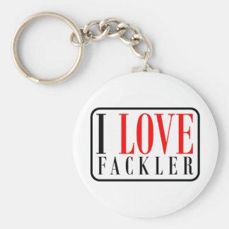 Fackler, Alabama Basic Round Button Key Ring