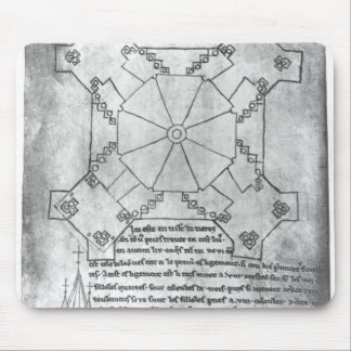 Facsimile copy of a plan of the tower mouse pad