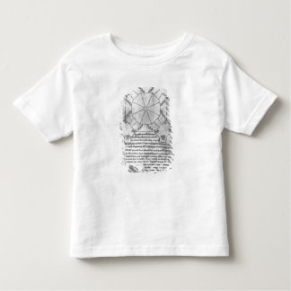 Facsimile copy of a plan of the tower toddler T-Shirt
