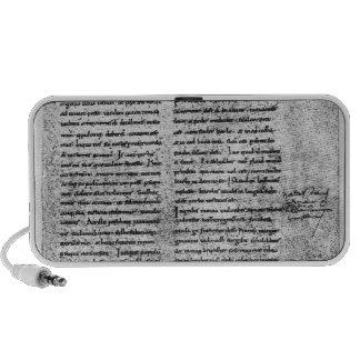 Facsimile copy travelling speakers