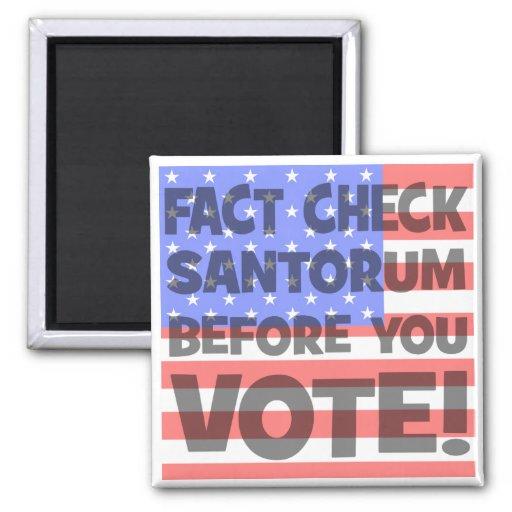 fact check Santorum Fridge Magnets