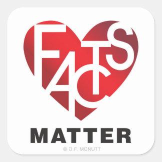 Fact Lover's Heart Sticker