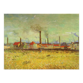 Factories at Asnieres by Vincent van Gogh Poster