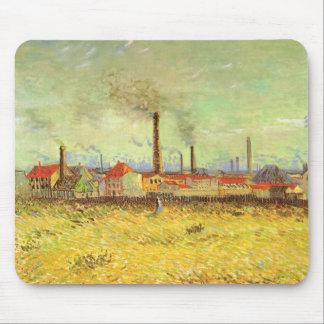 Factories at Asnieres, van Gogh, Vintage Fine Art Mousepads