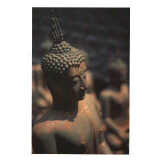 Factory Buddha Statues Wood Print