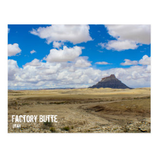 Factory Butte, Utah Postcard