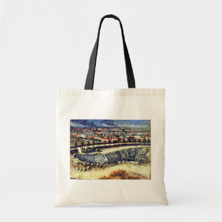 Factory Town By Vincent Van Gogh Canvas Bags