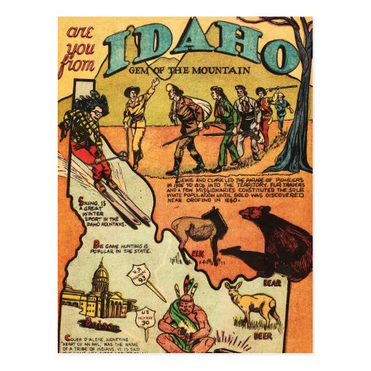 Facts About Idaho Postcard