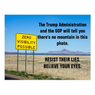 Facts and Truth Matter Resist Trump Lies Postcard