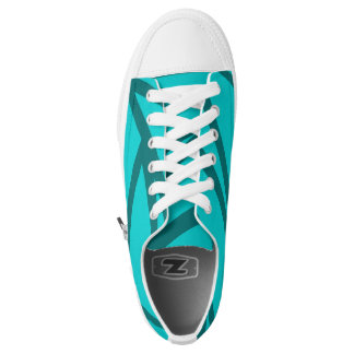 Fade Cyan Paint Splatter Skate Shoes