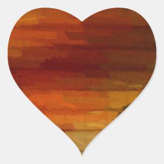 fade one heart sticker