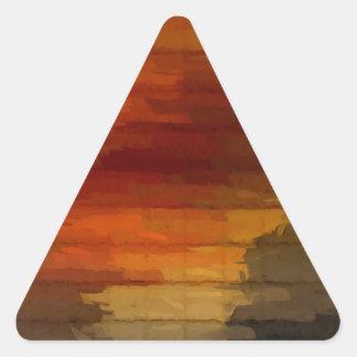 fade one triangle sticker