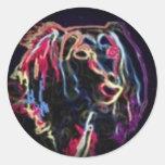 Fade to Black Round Stickers