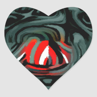 fade two heart sticker