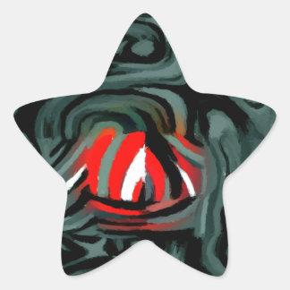 fade two star sticker