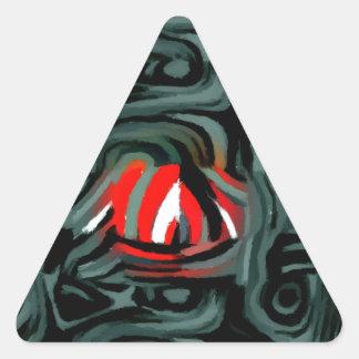 fade two triangle sticker