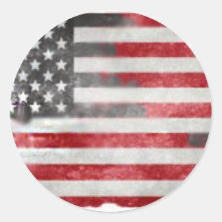 Faded America Round Sticker