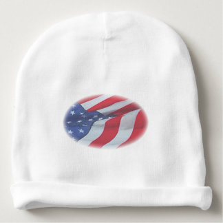 FADED AMERICAN FLAG BABY BEANIE
