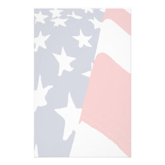Faded American Flag Stationery