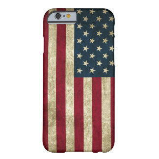 faded and grungy american flag barely there iPhone 6 case
