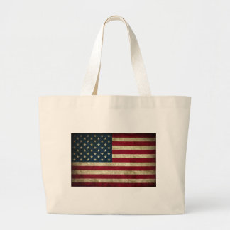 faded and grungy american flag jumbo tote bag