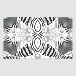 Faded Animal Print Rectangle Sticker