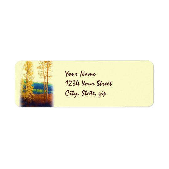 Faded Aspens label Return Address Label
