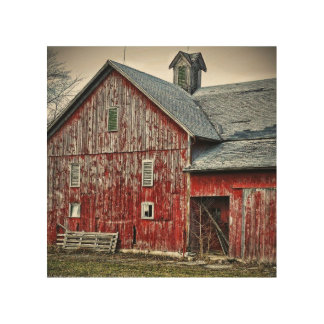 Faded barn wood wall art
