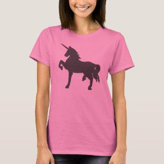 Faded Black Grunge Unicorn Symbol Tee