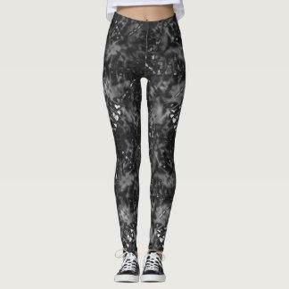 Faded Bleached Print Leggings