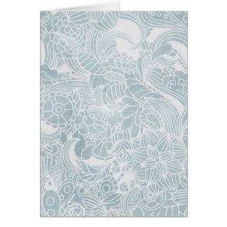 faded blue flowers greeting cards