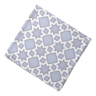 Faded Blue Fractal Quilt Pattern Bandannas