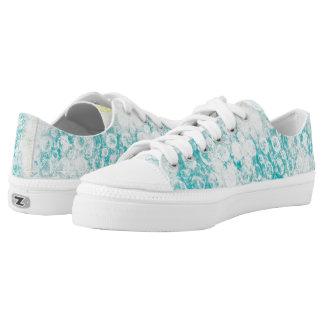 Faded Blue Grunge Low Tops