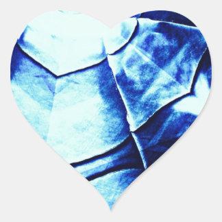 Faded Blue Pattern Heart Sticker
