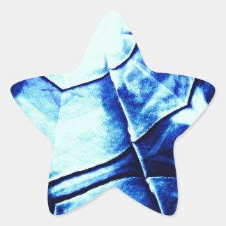 Faded Blue Pattern Star Sticker