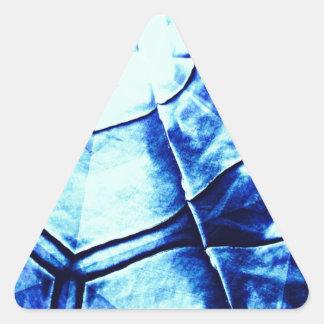 Faded Blue Pattern Triangle Sticker
