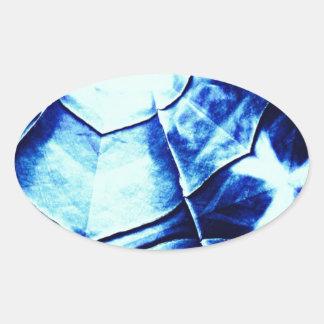 Faded Blue Pattern Sticker