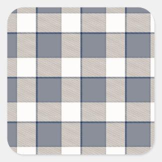 Faded Blue Squared Square Sticker