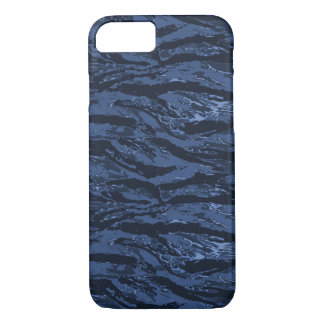 Faded Blue Striped Camo Phone Case